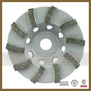 "4""~10′ Single Row Diamond Abrasive Stone Cup Grinding Wheel pictures & photos"