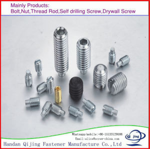 DIN913 Hexagon Socket Set Screws with Falt Point Stainless Steel pictures & photos