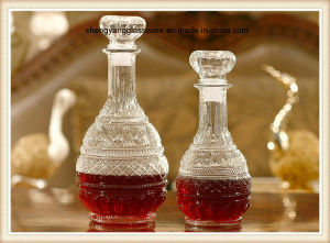 2PC 500ml 1000ml Glass Wine Bottle Set with Airtight Glass Lid pictures & photos
