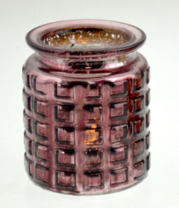 Burgundy Glass Tealight Holder pictures & photos