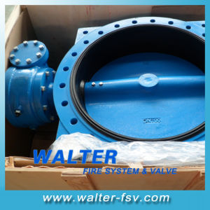Ductlie Iron Double Flanged Butterfly Valve pictures & photos