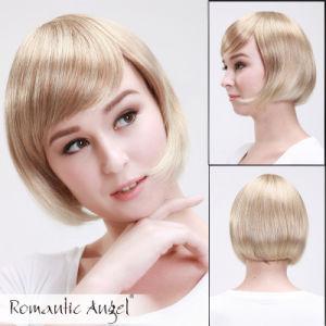 Blonde Short Fashion Women′s Wig pictures & photos