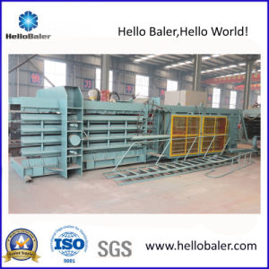 Horizontal Automatic Baling Machine with Conveyor Belt pictures & photos