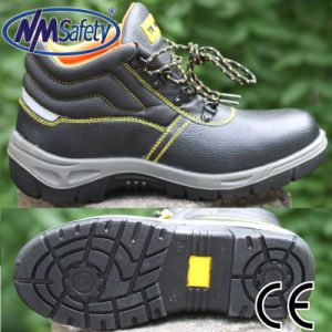 Nmsafety Cow Leather Anti Slip Steel Toe Cap Safety Shoes pictures & photos