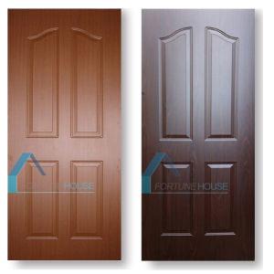 Teak/Dark Walnut/Wenge Color Melamine Faced Mould Door Skin pictures & photos