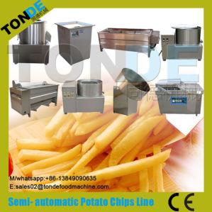 Commercial Frozen Fried Purple Sweet Potato Chips Processing Line pictures & photos