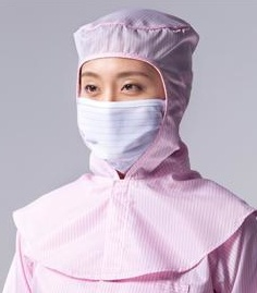 ESD Garment Cleanroom Clothes Face Open Cleanroom Hood