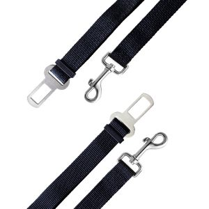 2 Pack Pet Dog Cat Car Vehicle Seat Belt Safety Harness, Nylon Material, 16-27inch Adjustable, Black pictures & photos
