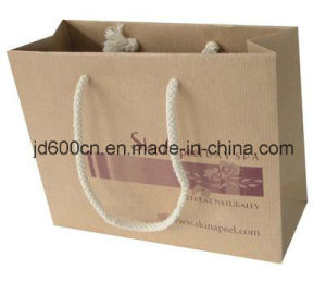 Customized Shopping Paper Bag/ Kraft Paper Bag with Twisted Handles pictures & photos