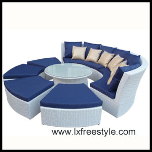 PE Rattan & Polyester Wicker Sofa Set (SF-021)