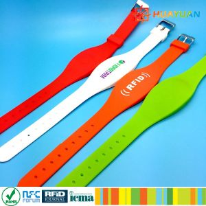 Dual Frequency Dual Frequency Silicone RFID Wristband for Event pictures & photos