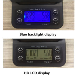 3kg 0.1g Digital Drip Kitchen Coffee Scales with Timer Function pictures & photos