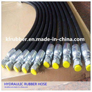 Flexible Hydrailic Rubber Hose with Hydrailic Fitting pictures & photos