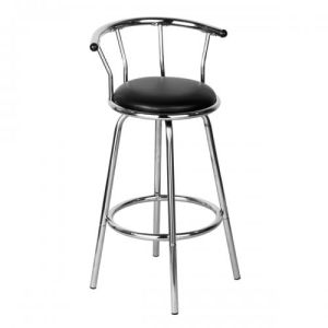 Modern Style Backrest Barstool with Steel Leg Barchair Furniture