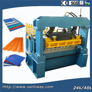 Steel Roofing Tiles Roll Forming Machine pictures & photos