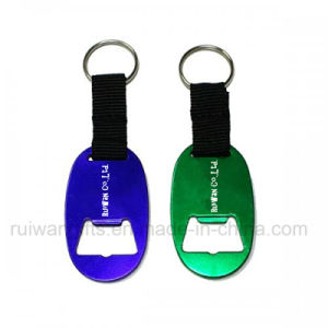 Aluminum Alloy Oval Bottle Opener Keyring (ABO007) pictures & photos