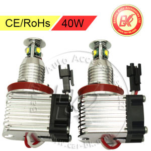 40W CREE LED Angel Eye Halo Light H8 Lamp for BMW with Fans