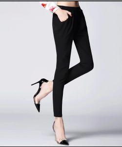 Latest Design 100% Cotton Ladies Skinny Summer Women′s Pants pictures & photos