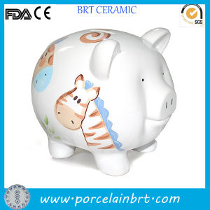 Custom Printed Ceramic Piggy Bank Wholesale pictures & photos