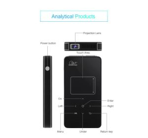 Hot Seller HD Mini Portable WiFi Projector with Infrared Remote Controller pictures & photos