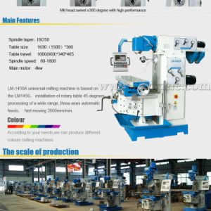 Lm1450A China Cheap Universal Swivel Head Milling Machine pictures & photos