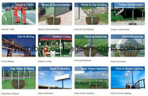Galvanizing Screw Pile / HDG Solar Mounting Ground Screw pictures & photos