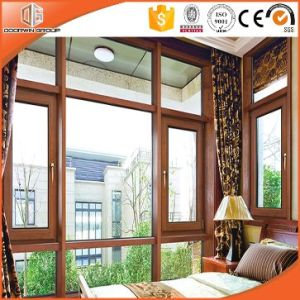 Top Quality Tilt and Turn Wood Color Casement Window for Replacement Made by Chinese Manufacturer pictures & photos