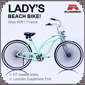 Alloy Frame Spring Fork Lady Beach Cruiser Bicycle (ARS-2688S) pictures & photos
