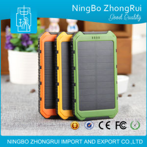 Best Selling Wholesale Waterproof Dual USB Solar Power Bank 10000mAh, Power Bank Portable Charger with Power Indicator pictures & photos