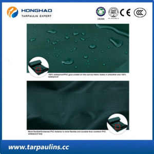 Awning/Tent Cover Fabrics Durable PVC Laminated Waterproof Tarpaulin pictures & photos