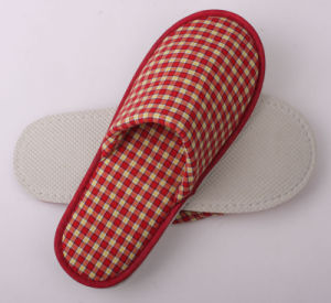 Red Cross White Velvet Slipper