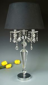 Phine Pd90050-01 Clear Crystal Desk Lamp with Fabric Shade pictures & photos
