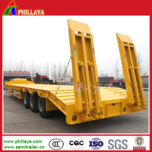 3 Axles 80 Tons Cargo Truck Drop Deck Trailer pictures & photos
