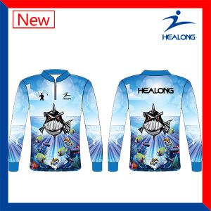 Healong Blue Color Any Pattern Sublimation Ultraviolet-Proof functionFishing Jerseys pictures & photos