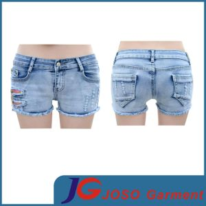Women Ripped Denim Cut off Shorts (JC6090) pictures & photos
