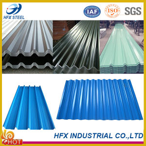 Zinc Plated Color Coated Corrugated Roofing Tiles