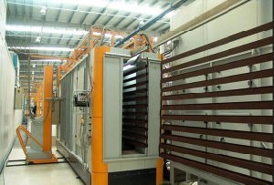 Aluminium Extruded Sections Automatic Electrostatic Powder Coating Line Assembly Line pictures & photos