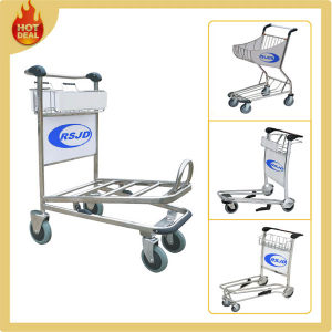 4 Wheels High Carrier Stainless Steel Airport Trolley with Brake pictures & photos
