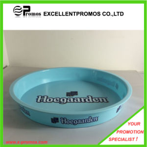 Logo Printed Plastic Round Bar Serving Tray (EP-T411122) pictures & photos