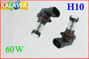 1 Pair 60W H10 6000k Fog Light Osram Chip Black Metal Type High Power LED Lamp Car Headlamp DC12-24V
