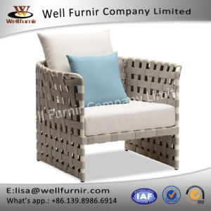 Well Furnir Rattan Single Sofa with Cushions pictures & photos
