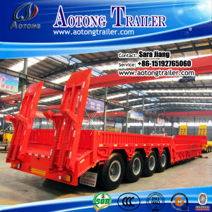 Multipurpose 120ton 4 Axles Low Bed Trailer with Side Wall pictures & photos