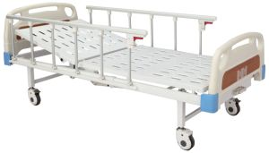 CE Certificate One Crank Manual Hospital Bed (SK-MB110) pictures & photos