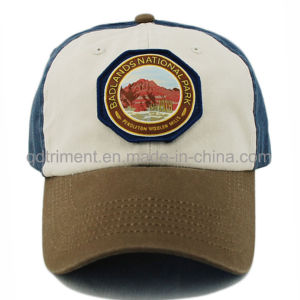 Fashion Washed Embroidery Sandwich Twill Golf Baseball Cap (TMB9068) pictures & photos