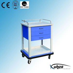 Hospital Emergency Cart, Medicine Cart with Drawers (N-12) pictures & photos