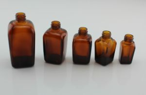 Brown Rectangle Square Glass Essential Oil Bottle Cosmetics Packaging 15ml 30ml 50ml 100ml pictures & photos
