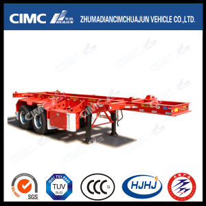 20FT 3axle High Tensile Steel Skeleton Container Semi Trailer pictures & photos