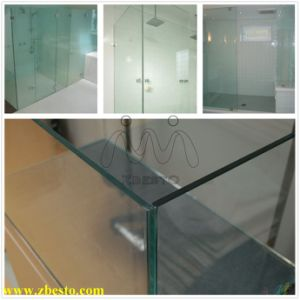 Custom Frameless Safety Tempered Toughened Shower Glass Curtain Building Wall