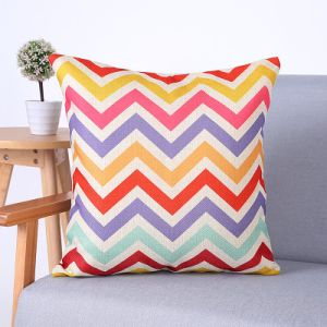 Digital Print Decorative Cushion/Pillow with Geometric Pattern (MX-66E) pictures & photos