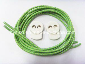 Customize 3mm Round No Tie Elastic Cord Reflective Color Shoelace with Lock pictures & photos